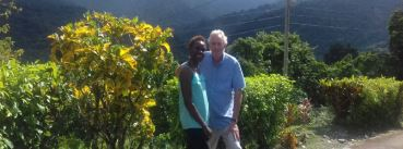 Tony and Nadine in Trench Town, Jamaica